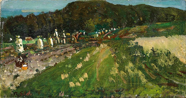 Sterl, Robert Hermann 1867 Grossdobritz - 1932 Naundorf  Harvest.