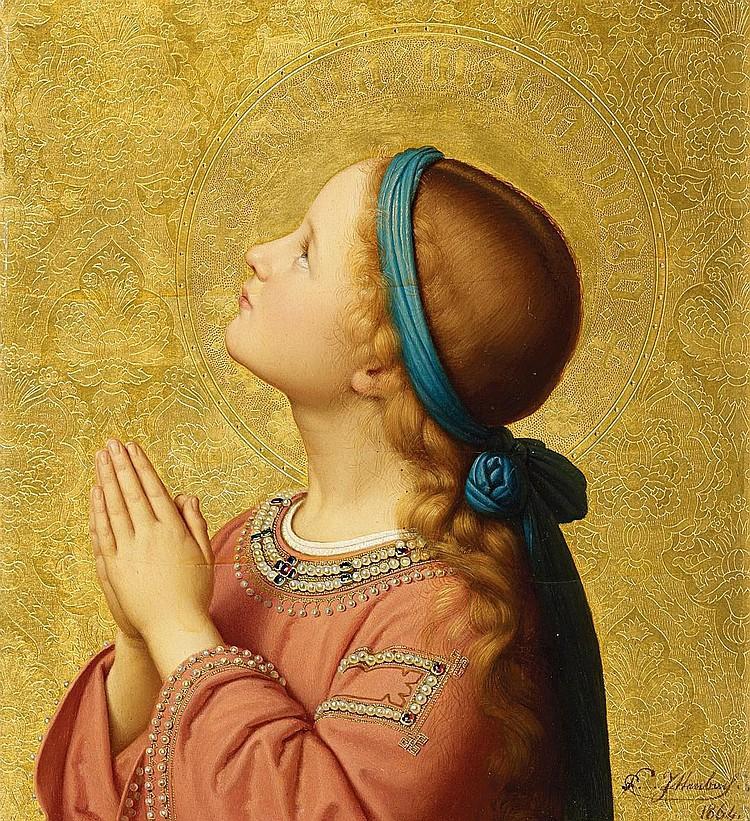 Ittenbach, Franz 1813 Königswinter - 1879 Düsseldorf  The Virgin Mary.