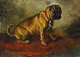 Stevens, Joseph Brussels 1816 - 1892 Portrait of a French bulldog.