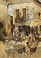 Feddersen, Hans Peter 1848 Wester-Schnatebüll - 1941 Niebüll  Alleyways in a Southern Italian city., Hans Peter (1848) Feddersen, Click for value