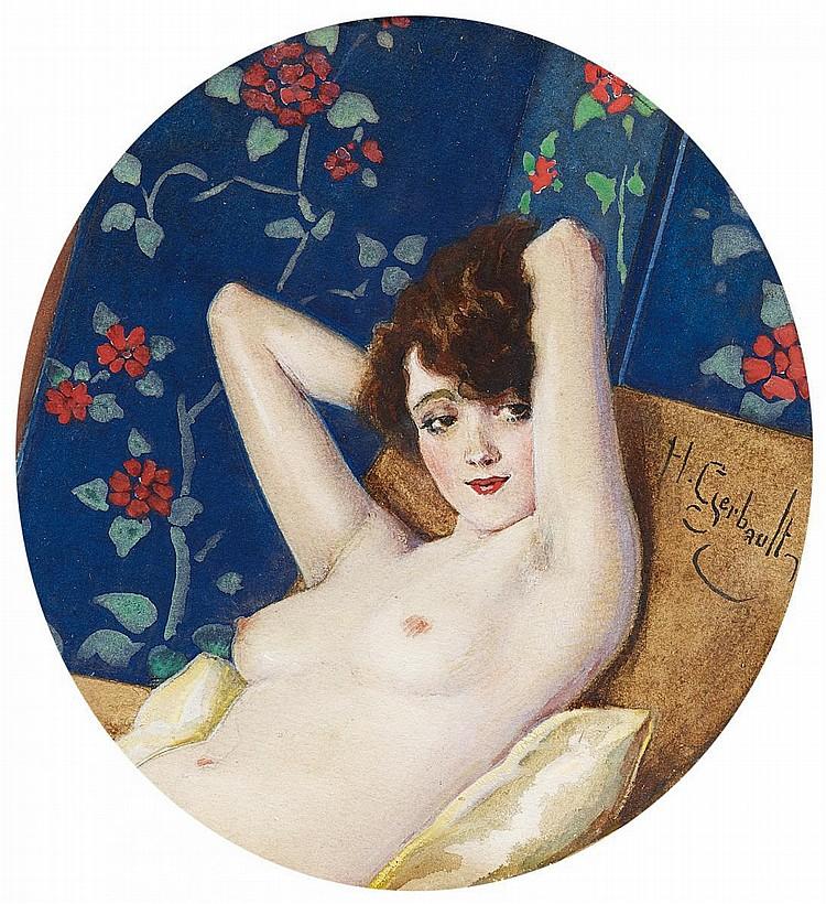 Gerbault, Henri 1863 Châtenay - 1930 Roscoff  Study of a nude.