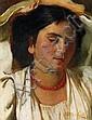 Seitz, Otto Munich 1846 - 1912  Portrait of a young Italian woman., Otto Seitz, Click for value