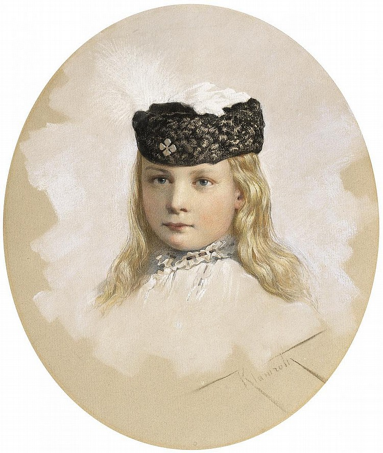 Klamroth, Anton 1860 Moscow - 1929 Leipzig  Portrait of a young Prussian princess.
