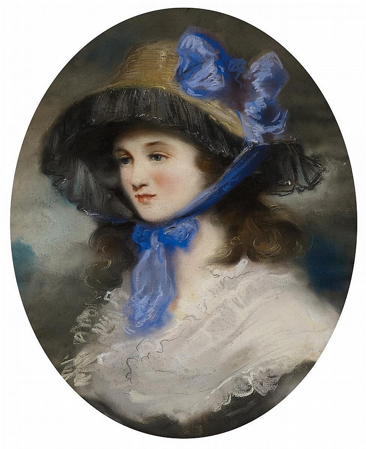 Peters, Matthew William 1741/42 Freshwater (Isle of Wight) - 1814 Brasted (Kent) - attributed  Portrait of a lady.