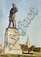 Kuehl, Gotthardt 1850 Lübeck - 1915 Dresden  Bismarck Memorial in Meißen (?)., Gotthardt Kuehl, Click for value