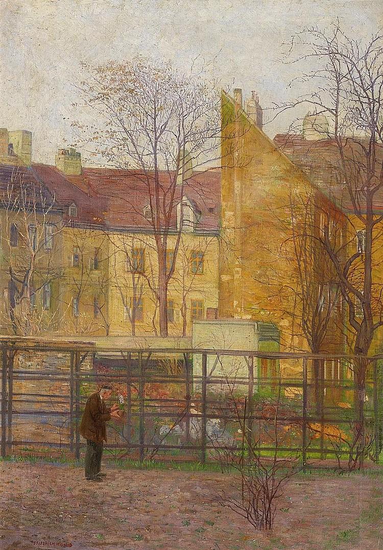 König, Friedrich Vienna 1857 - 1941  Viennese backyard.