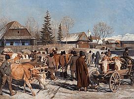 Mezey, Artur 1907 Gyöngyös - 1987 Winter Cattle