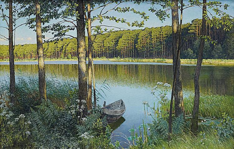 Vorgang, Paul Berlin 1860 - 1927  Grunewaldsee.