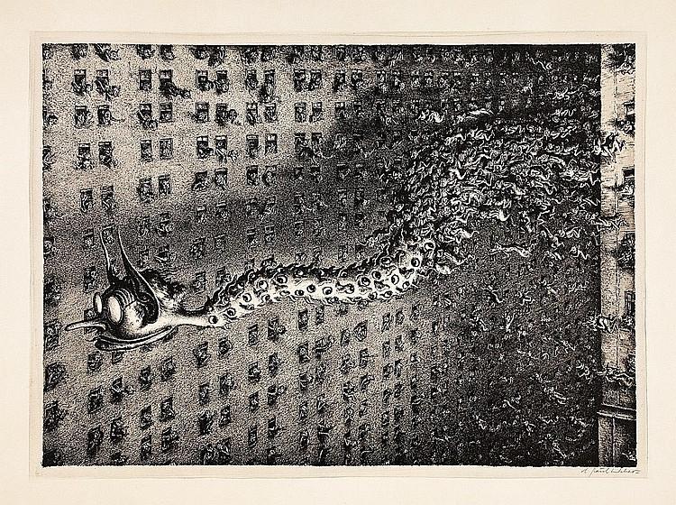 Modern Prints:  Weber, Andreas Paul 1893 Arnstadt - 1980 Schretstaken  Das Gerücht (I).