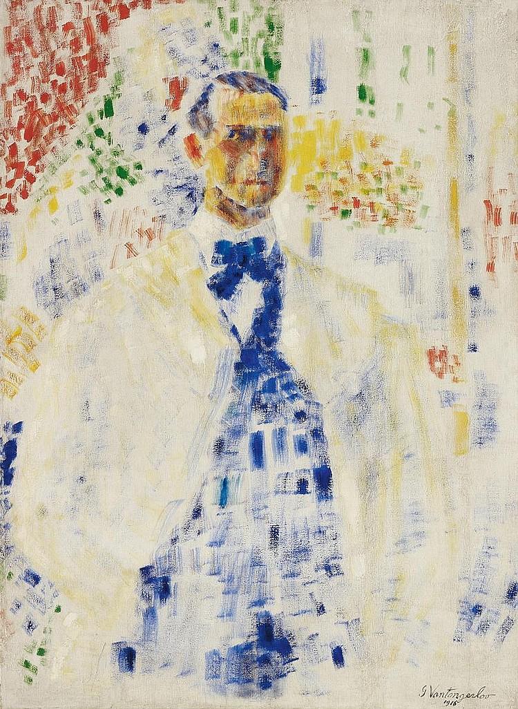 Vantongerloo, Georges 1886 Antwerp - 1965 Paris  Man in interieur (Self-portrait).