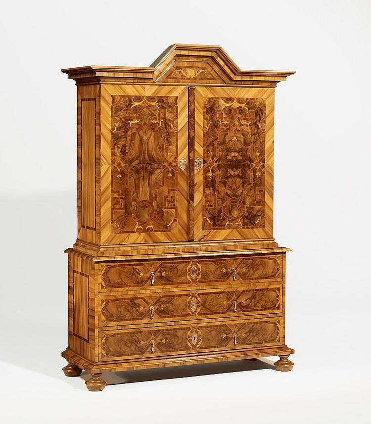 Baroque Cabinet on Chest. Central Germany. 18th C.
