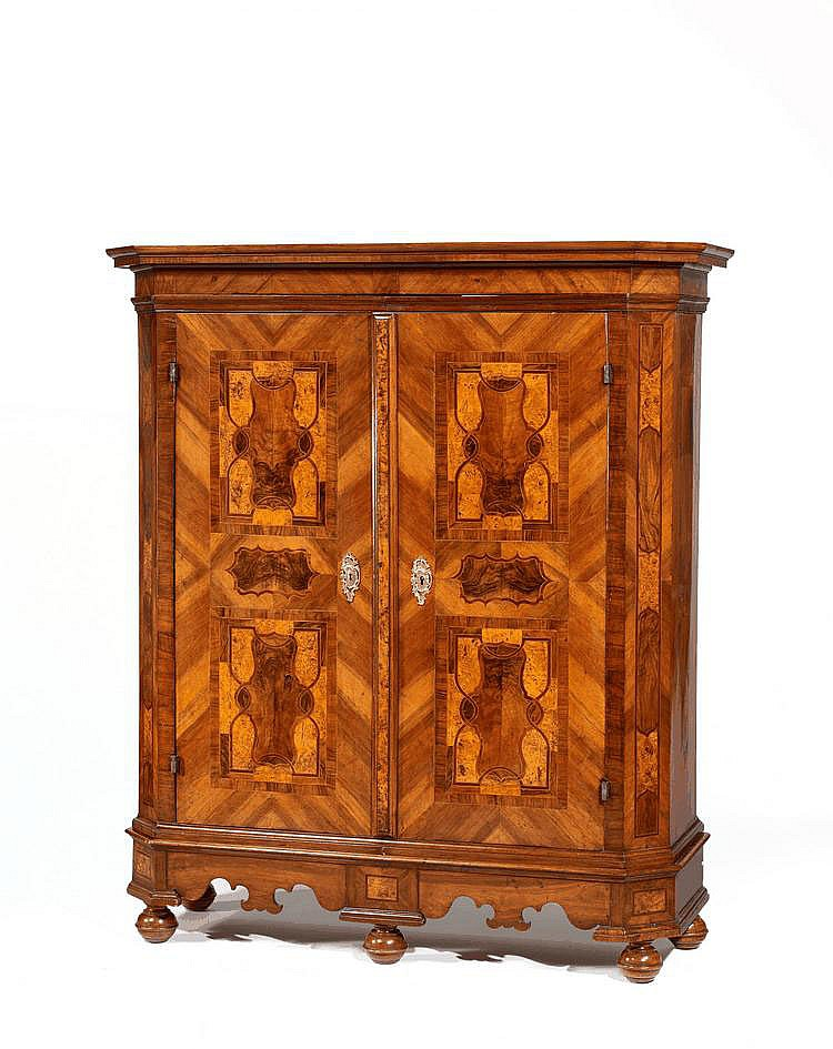 Baroque Cabinet. Austria. 18th C. Walnut, burr