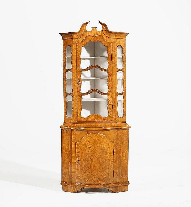 Rococo Corner Display Cabinet. Northern Germany.