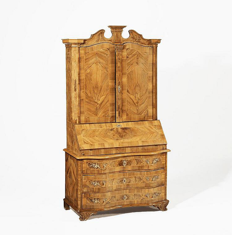 Rococo Writing Cabinet à Deux Corps. Presumably