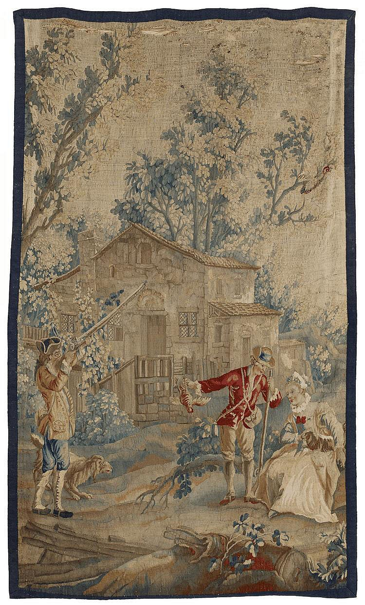 Tapestry with Hunting Scene. Presumably France.