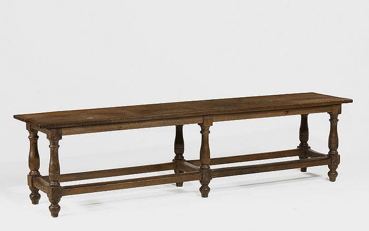 Renaissance Style Refectory Table. Oak. Long,