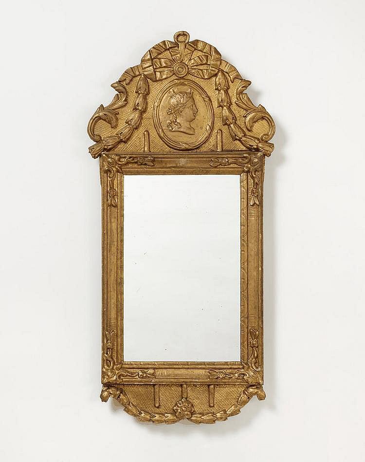 Small Louis XVI. Mirror. France. 18th C. Wood,