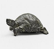Dobberkau, Heide 1929 Celle Tortoise. Bronze, dark