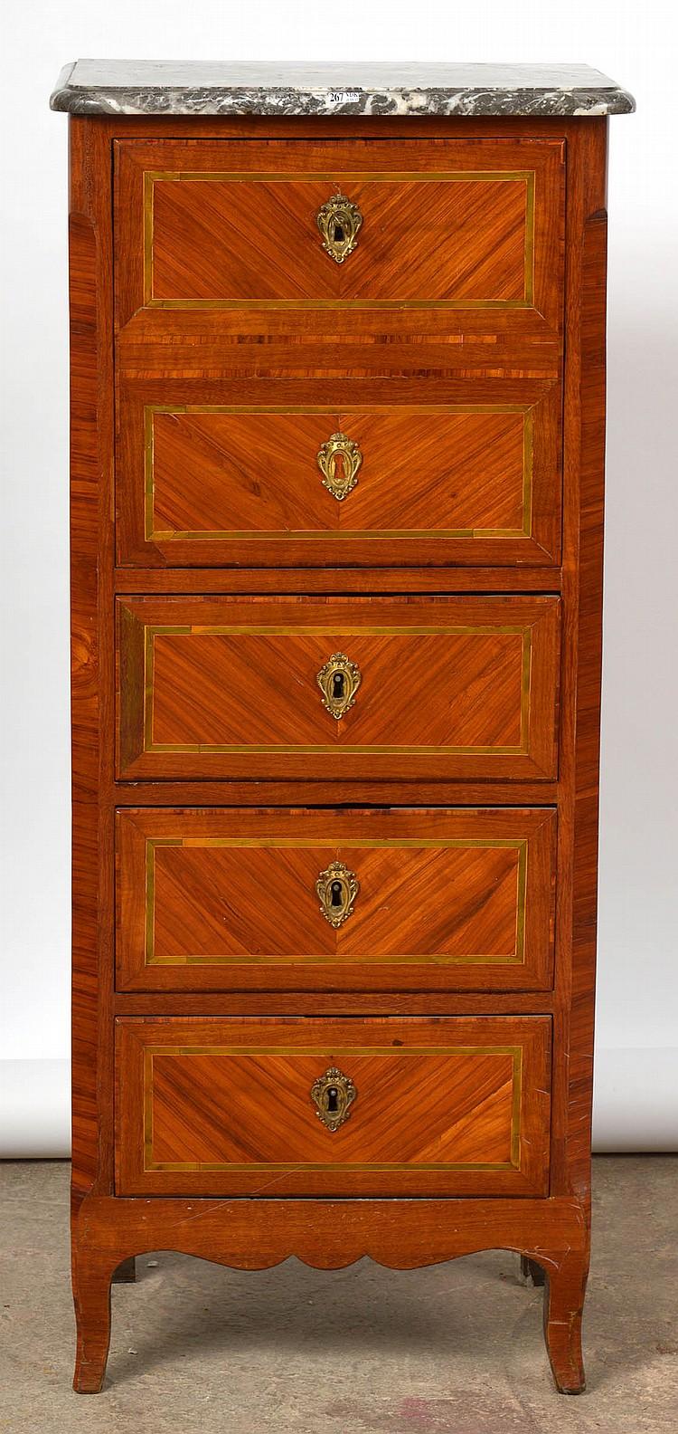 Petit secr taire droit de style transition en bois de placag for Petit secretaire