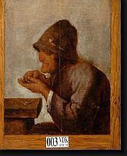 BROUWER Adriaen (1605-1638). Suiveur de. Huile sur