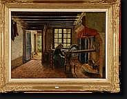 STOBBAERTS Pieter (1865-1948). Huile sur toile