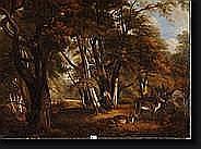 BENOUVILLE Jean Achille (?) (1815-1891). Huile sur