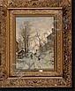 VAN SEBEN Henri (1825-1913). Huile sur toile, Henri
