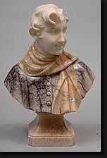 CARLI Auguste Henri (1868-1930). Buste de jeune
