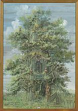 "BOSQUET Thierry (1937) - ""Jardin extraordinaire"" g"