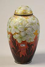 FAURE Camille (1874 - 1956) - Un vase couvert ovoï