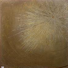 KREKELS Christian (1942) - Tablette de table en laiton de section carrée au