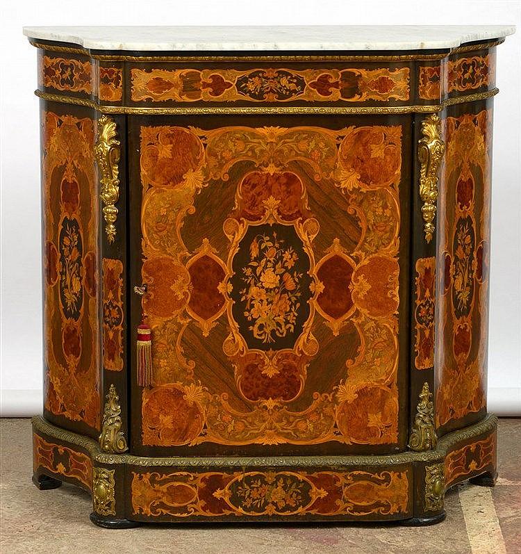 Meuble d 39 appui de style napol on iii en amarante bois for Meuble style napoleon 3