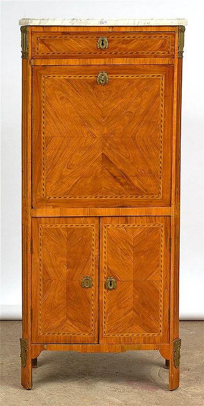 petit secr taire de style louis xvi abattant surmont d 39 un. Black Bedroom Furniture Sets. Home Design Ideas