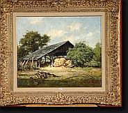 VAN GELDEREN Simon (1905-1986). Huile sur toile