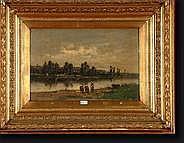 PERRET Henri François (1825-?). Huile sur panneau