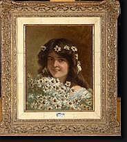 DORE Jacques (1861-1929). Huile sur panneau