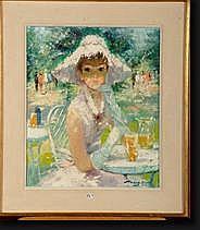 AERS Marguerite (1918-1995). Huile sur toile