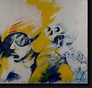 SOMVILLE Roger (1923). Huile sur toile