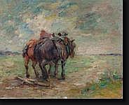 VAN DEN BOSSCHE Hubert (1874-1957). Huile sur