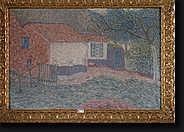 BOULEZ Jules (1889-1960). Huile sur toile
