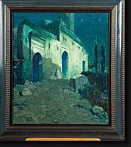 FLASSCHOEN Gustave (1868-1940). Huile sur toile