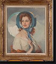 BOULET Cyprien Eugène (1877-1972). Huile sur