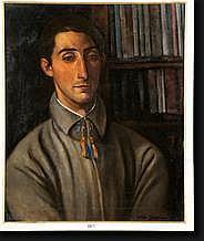 CRETEN Georges (1887-1966). Huile sur toile Jeune