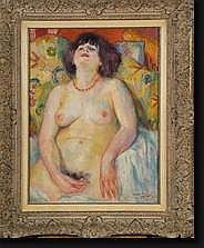 CRETEN Georges (1887-1966). Huile sur toile Nu