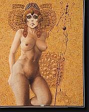 LE MOULT Christian (1941). Huile sur toile Femme