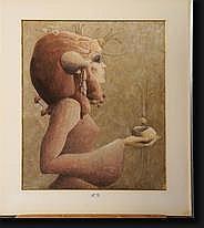 LE MOULT Christian (1941). Profil de femme, pastel