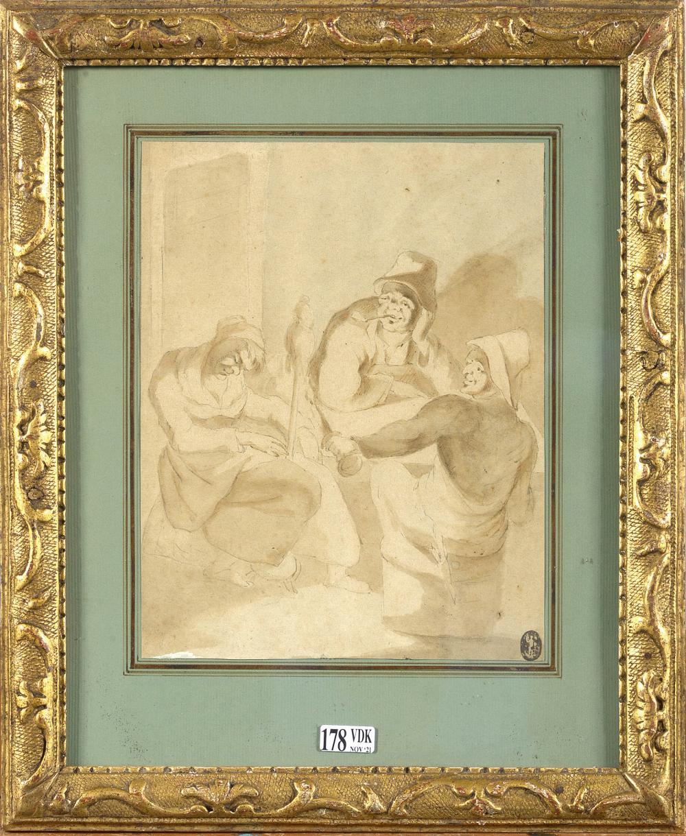 Dessins BROUWER Adriaen (1605 - 1638). Entourage de.