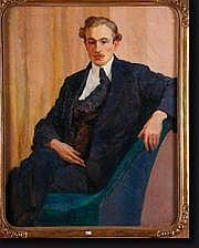 DEHOY Charles (1872-1940). Huile sur toile