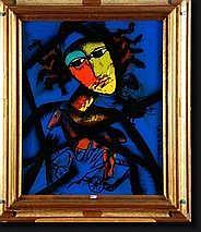 CHAPELLIER José (1946). Eglomisé sur plexi