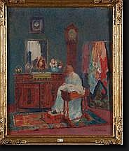 LECOMTE Emile (1866-1938). Huile sur toile